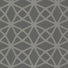 "Geo Enterprise Lattice 33' x 20.5"" Geometric 3D Embossed Wallpaper"