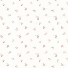 "Dollhouse Debbie Small Toss 33' x 20.5"" Rose 3D Embossed Wallpaper"