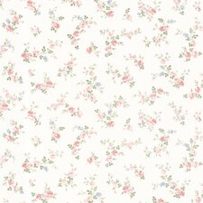"Dollhouse Fiona Sprigs 33' x 20.5"" Floral and Botanical 3D Embossed Wallpaper"