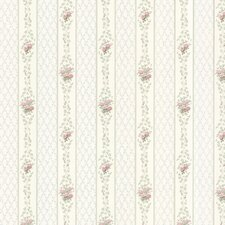 "Dollhouse Jaynie 33' x 20.5"" Floral and Botanical 3D Embossed Wallpaper"