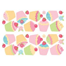 Euro Cupcake Wall Decal