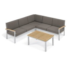 Travira 4 Piece Deep Seating Group with Cushion