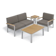 Travira 4 Piece Deep Seating Group with Cushion