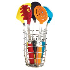 6 Piece Utensil Set with Crock
