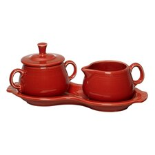 3 Piece Fiesta Sugar & Creamer Set