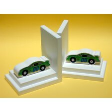 Stock Car Book Ends (Set of 2)