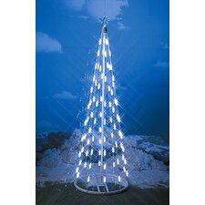 String Light Cone Tree Christmas Decoration with White Lights