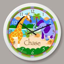 "Wild Animals Personalized 12"" Wall Clock"