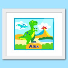 Dinosaur Land Personalized Framed Art