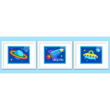 3 Piece Out of This World Personalized Framed Art Set