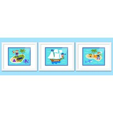 3 Piece Pirates Personalized Framed Art Set