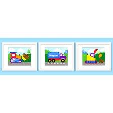 3 Piece Under Construction Personalized Framed Art Set
