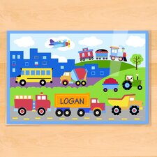 Trains, Planes and Trucks Personalized Placemat