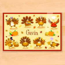 Thanksgiving Turkeys Personalized Placemat