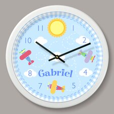 """Up and Away Personalized 12"""" Wall Clock"""