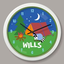 """Camping Trip Personalized 12"""" Wall Clock"""