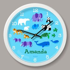"""Endangered Animals Personalized 12"""" Wall Clock"""