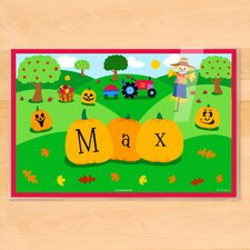 Fall Pumpkins Personalized Placemat