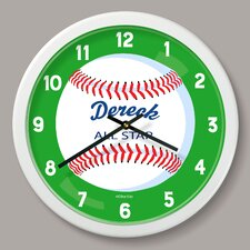"""Baseball Personalized 12"""" Wall Clock"""