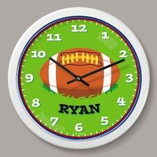 "Football Personalized 12"" Wall Clock"