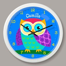 """Owls Personalized 12"""" Wall Clock"""