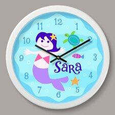 "Mermaids Personalized 12"" Wall Clock"
