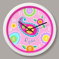 "Paisley Dreams Personalized 12"" Wall Clock"