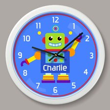 """Robots Personalized 12"""" Wall Clock"""