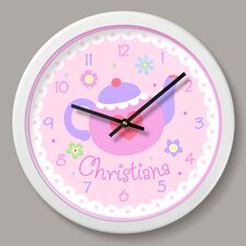 """Tea Party Personalized 12"""" Wall Clock"""