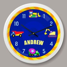 """Under Construction Personalized 12"""" Wall Clock"""