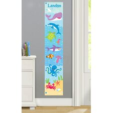 Ocean Personalized Peel and Stick Growth Chart