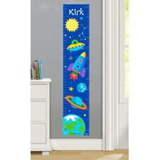 Out of This World Personalized Peel and Stick Growth Chart