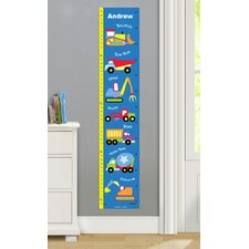 Under Construction Personalized Peel and Stick Growth Chart