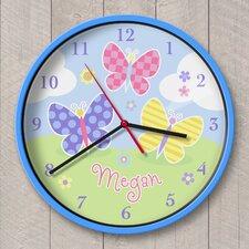 "12"" Butterfly Garden Personalized Wall Clock"