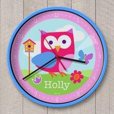 "12"" Birdie Personalized Wall Clock"
