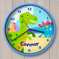 "12"" Dinosaur Land Personalized Wall Clock"