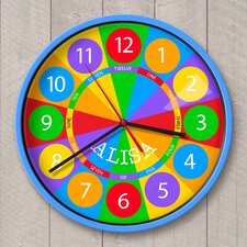 """12"""" Numbers Personalized Wall Clock"""