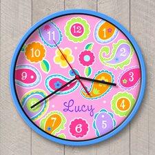 "12"" Paisley Dreams Personalized Wall Clock"