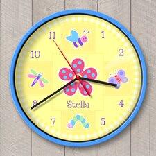 "12"" Flowerland Personalized Wall Clock"