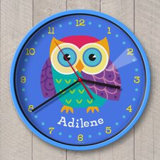 """12"""" Owls Personalized Wall Clock"""