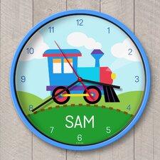 "12"" Train Personalized Wall Clock"