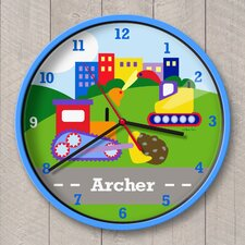"""12"""" Under Construction Personalized Wall Clock"""
