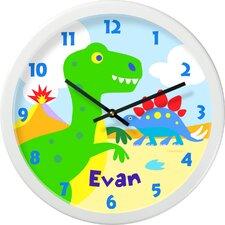 "Dinosaur Land Personalized 12"" Wall Clock"