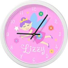 "Fairy Princess Personalized 12"" Wall Clock"