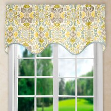 "Folk Damask 50"" Curtain Valance"
