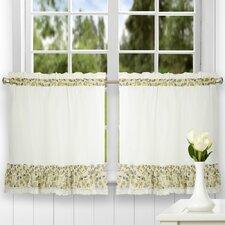 Clarice Ruffled Tailored Tier Curtain (Set of 2)