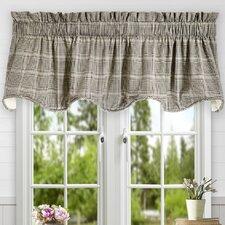 Morrison Plaid Cotton Scallop Lined Curtain Valance