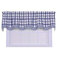Logan Cotton Rod Pocket Large Scale Plaid Valance Window Curtain