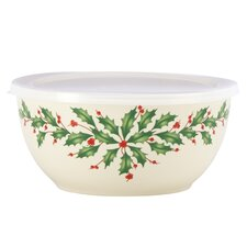 Holiday Serving Bowl with Lid