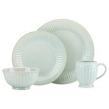 French Perle Groove 4 Piece Place Setting